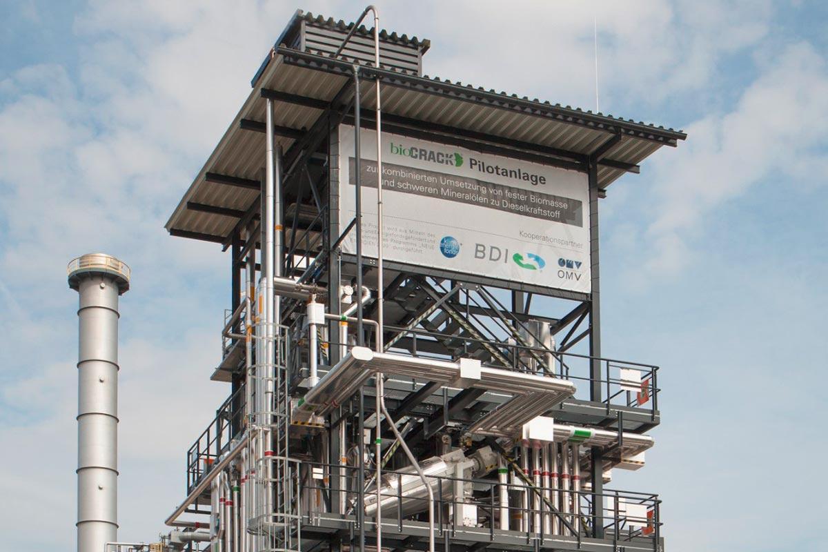 BioCRACK pilot plant OMV refinery in Schwechat (Austria)