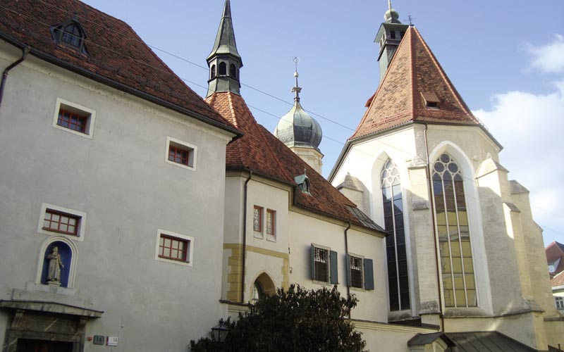 Franziskanerkloster Graz, Foto: TU Graz, IWT