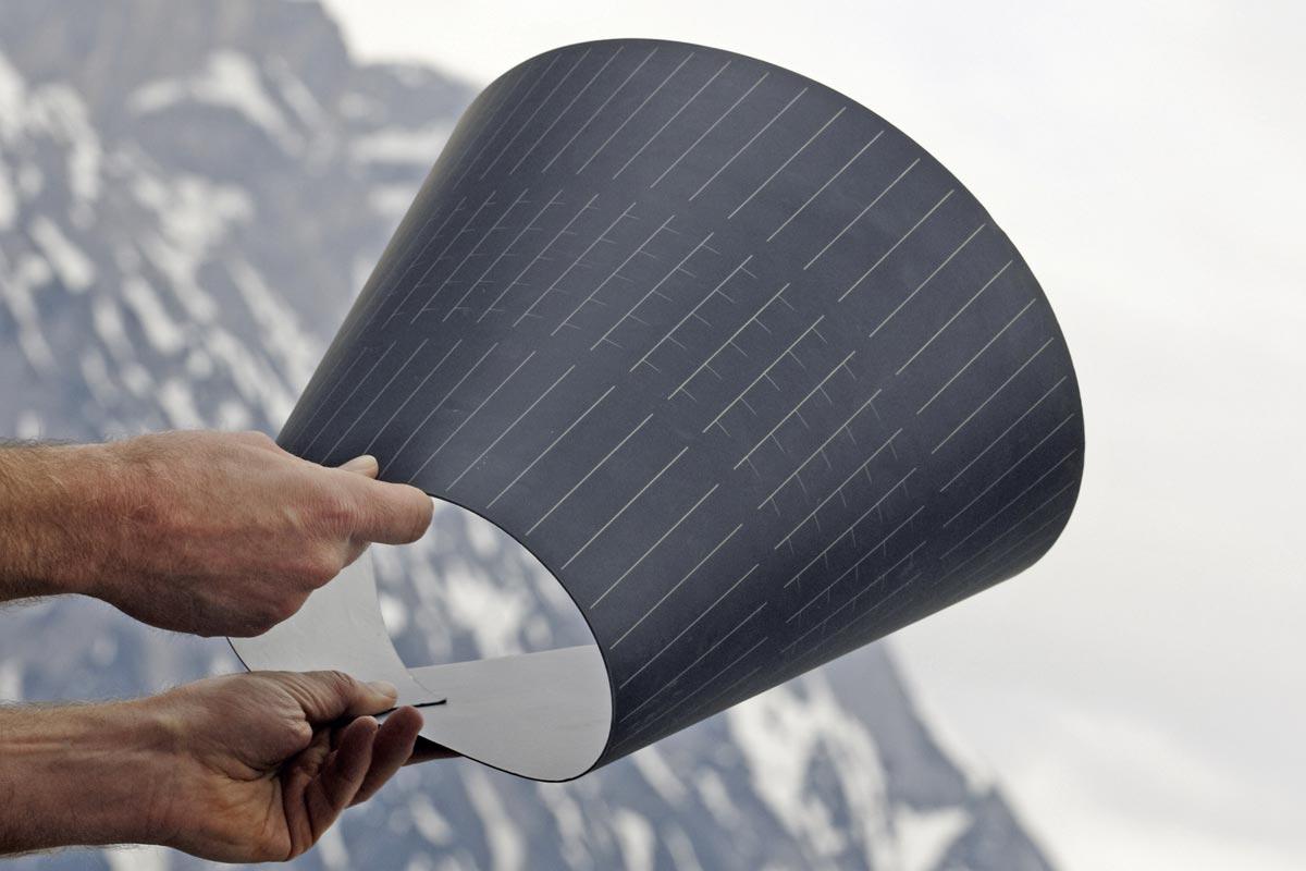 simpliCIS - flexible Dünnschichtsolarzellen, Quelle: Klima- und Energiefonds / Ringhofer