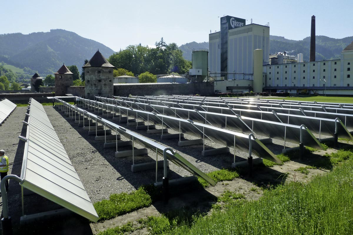 Solar facility at the Göss brewery,Source: AEE INTEC