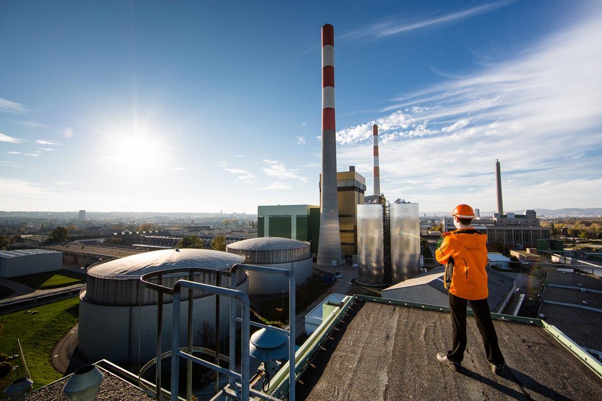 Hochdruck-Wärmespeicher am Gelände des Kraftwerks Simmering Foto: Wien Energie/Ian Ehm