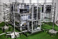 Vorbereitung einer ortsaufgelösten akustischen Messung der GreenHP mit 64 Mikrophonen, Foto: AIT/Lukas Ilgner
