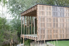 Pallet House, Blaue Lagune Vienna, Photo: palettenhaus.com