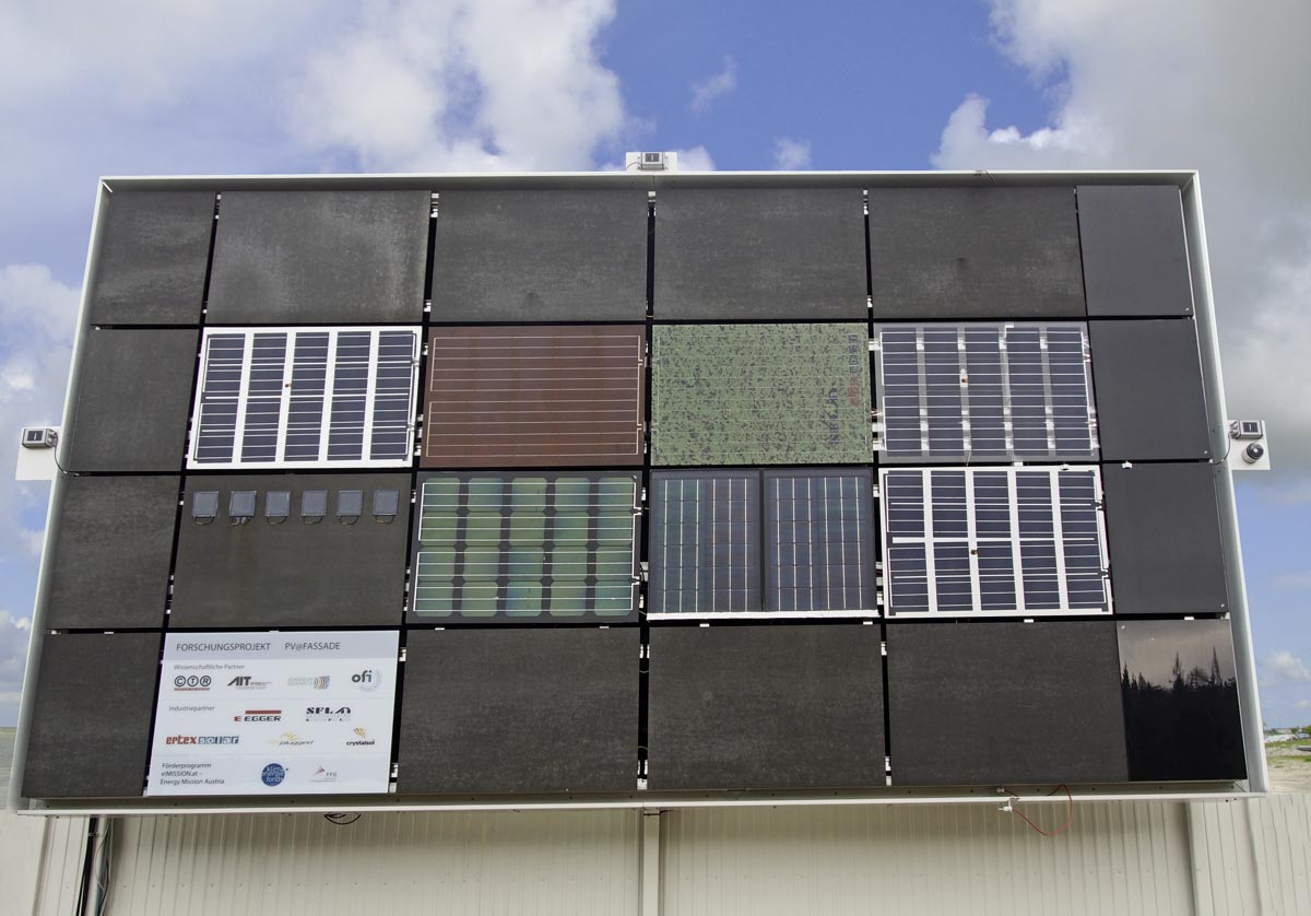PV-Testfassade, Foto: Michael Grobbauer, SFL Technologies