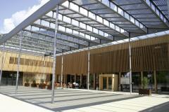 Gemeindezentrum Ludesch mit Glas/Glas Modulen gefertigt von ertex-solartechnik GmbH, Foto: GR Gebhard Bertsch