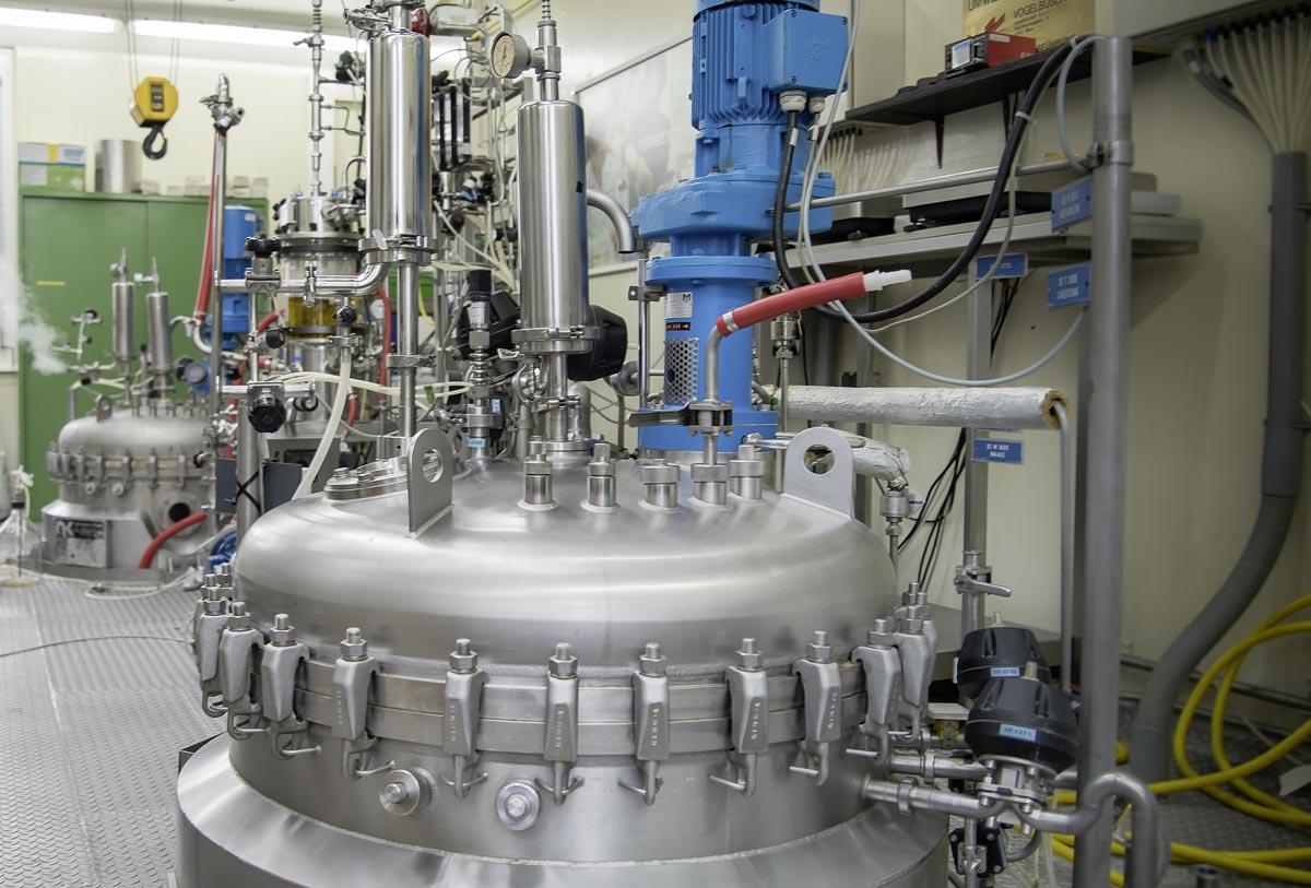Reaktor im Biotechnikum, Foto: Egon Fischer, Fischermedia