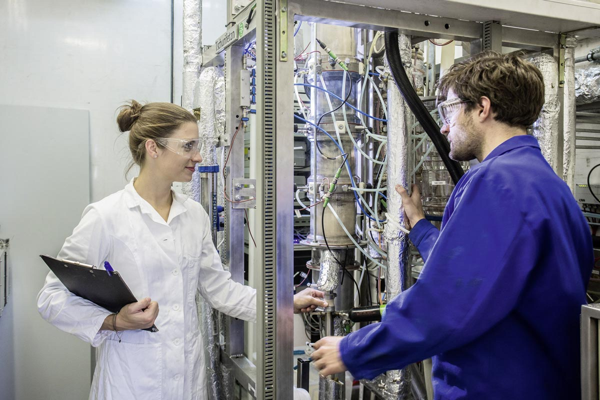 Laboratory facility at TU Wien (Vienna University of Technology), photo: TU Wien/Julius Pirklbauer