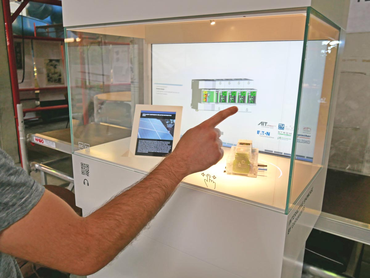 Digital showcase with Smart Breaker @ Ars Electronica Festival 2016, photo: Ars Electronica Solutions / Garamantis