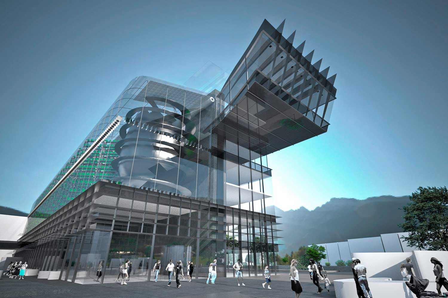 Geplante vertikale Farm Innsbruck, Quelle: vertical farm Institute