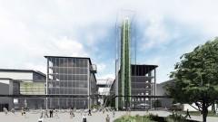 "Geplante vertikale Farm ""Pixel"" in der Tabakfabrik Linz, Quelle: vertical farm institute"