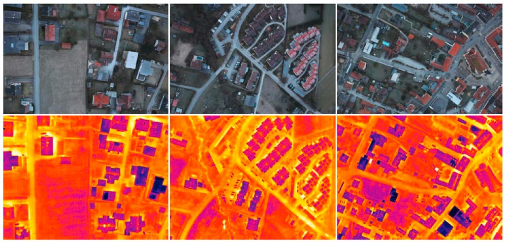 RGB orthophotos and thermal recordings, Source: Project HOTSPOTS
