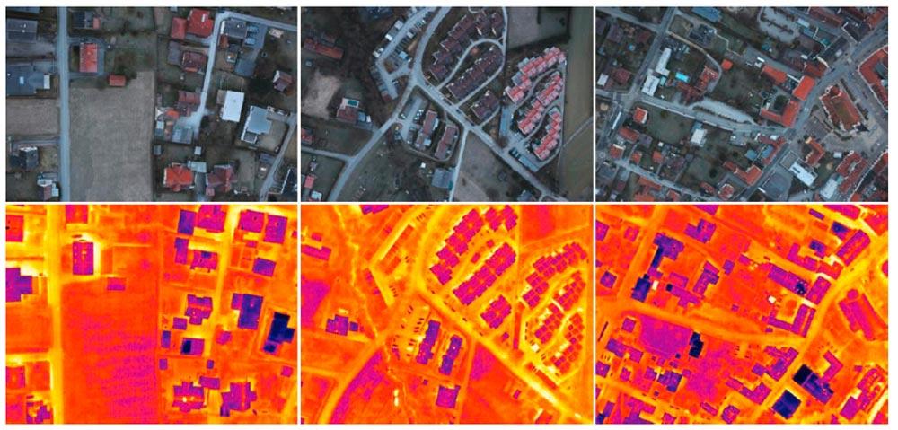 RGB Orthophotos und thermische Aufnahmen, Abbildung: Projekt HOTSPOTS