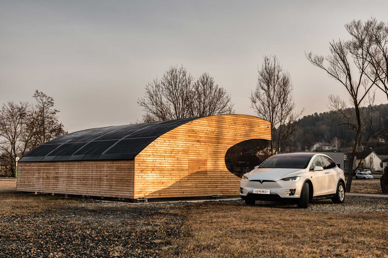 Photovoltaic e-charging station for electric cars, photo: act4.energy