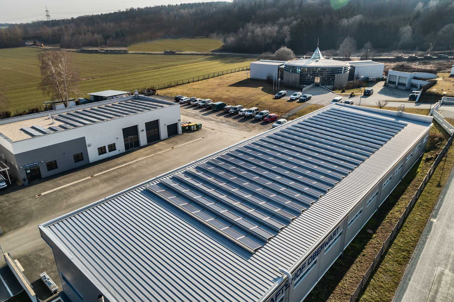 Photovoltaic facility and waterworks, photo: act4.energy