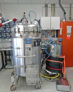 Scale-Up Rieselbettreaktor, Foto: Universität für Bodenkultur Wien, Institut für Umweltbiotechnologie