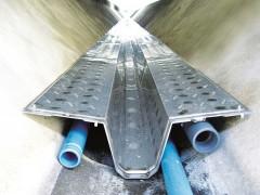 Wärmetauscher im Kanal mit Trockenwetterrinne, geeignet ab DIN 400, Quelle: Rabmer Greentec GmbH, Technologiepartner Firma UHRIG