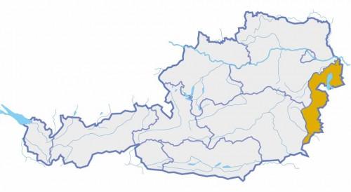 Österreichkarte mit Burgenland