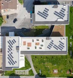 PV-Anlage auf den Dächern, Foto: NHT/Robert Schober