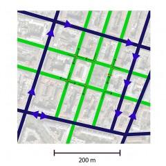 Superblock-Modell Verkehrsorganisation, Abbildungen: SUPERBE-Team_Florian_Lorenz