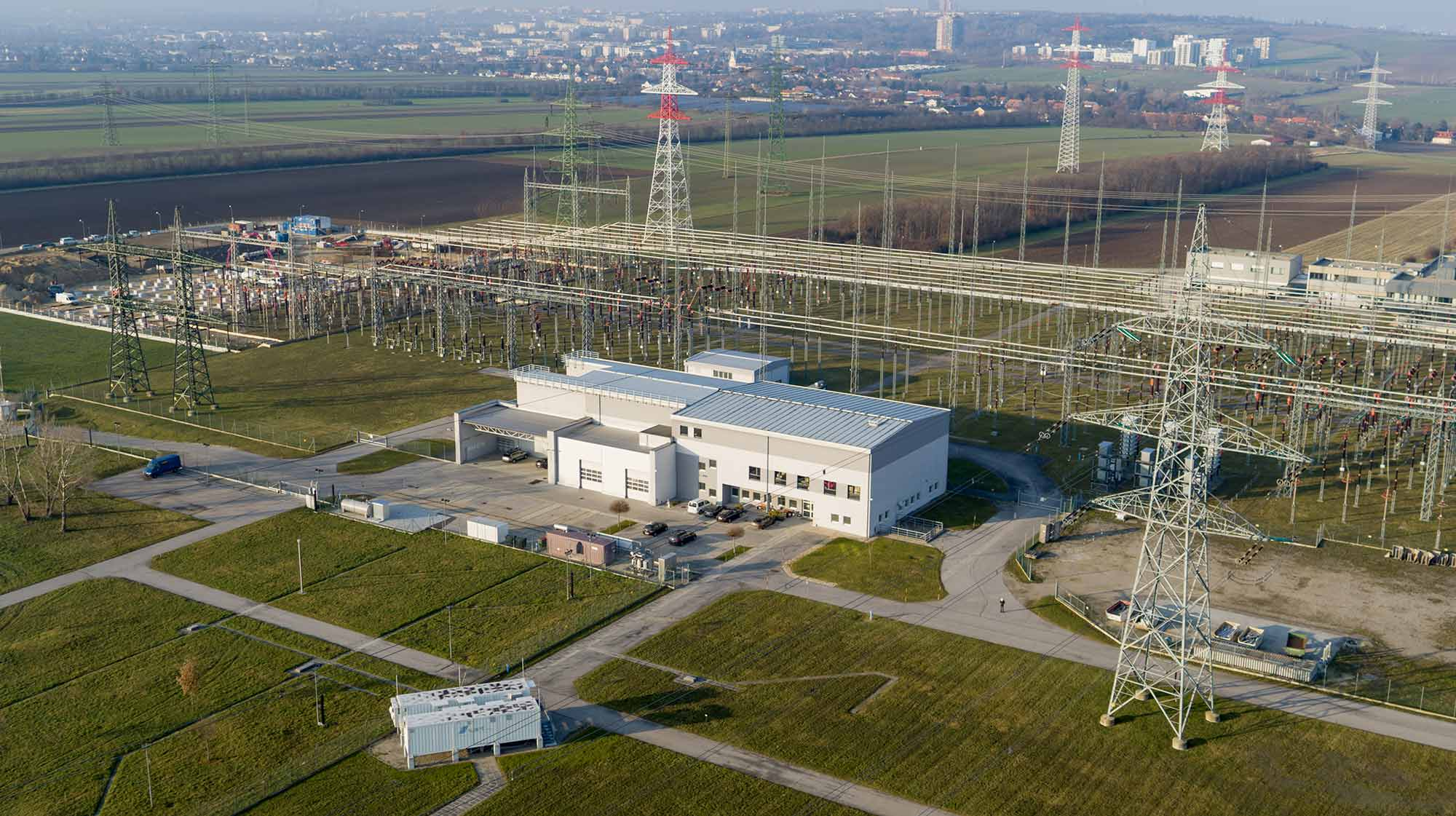 Vienna Southeast substation with ABS4TSO battery storage unit, Photo: APG/Rainer Wagenhofer